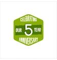 celebrating 5 year anniversary badge sign vector image