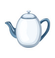 ceramic teapot inflat style vector image