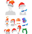 Christmas and Halloween decorations vector image vector image
