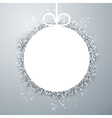 Christmas ball light abstract background vector image vector image