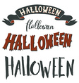 collection halloween hand lettering isolated on vector image