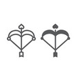 cupid bow line and glyph icon love and valentine vector image vector image