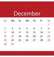 december 2018 calendar popular red premium for vector image vector image