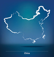 Doodle Map of China vector image