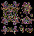 ethnic colorful stencils - set templates vector image vector image