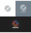etter O logo alphabet design icon set background vector image