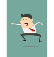Excited cartoon businessman vector image vector image