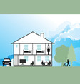 family home vector image vector image