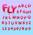 flying balls in the form of letters numbers vector image vector image