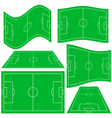 Football pitch vector image vector image