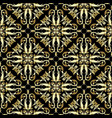 gold ornate damask seamless pattern vector image vector image