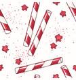 Hand drawn seamless pattern with straws