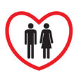 heterosexual love icon man and woman vector image vector image