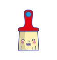 kawaii cute smile brush object vector image vector image