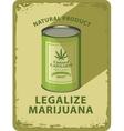 legalization of marijuana vector image vector image