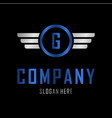 letter g automotive creative business logo vector image vector image