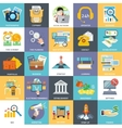 Main Business Processes Activities and Components vector image