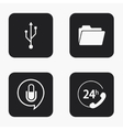 modern technology icons set vector image vector image