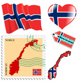 national colours of Norway vector image vector image