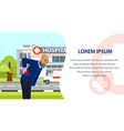 old man suffering from back pain web page vector image vector image
