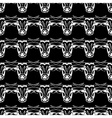 Pattern hipster bull head Monochrome black and vector image vector image