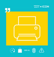 print line icon vector image vector image
