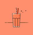 red healthy smoothy vector image vector image