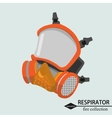 Respiratory protection for the tract Fire vector image vector image