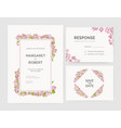 set of gorgeous wedding invitation save the date vector image vector image