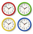 Set of round wall clock with color bodies vector image