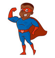 superhero man cartoon character vector image vector image