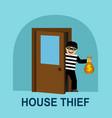 thief stole money vector image
