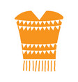 traditional mexican poncho vector image vector image
