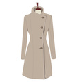Trench coat vector image vector image