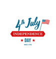 united states independence day 4th of july vector image