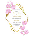 wedding inviration with orchids vector image