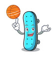 with basketball skateboard character cartoon style vector image