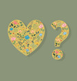 yellow heart and question mark vector image