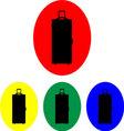 Suitcase on wheels icon set vector image