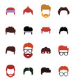 avatar set stylized people vector image