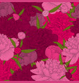 beautiful seamless background pink peonies vector image vector image