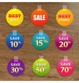 Big Colorful Sale Tags vector image vector image