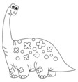 Black and White Dinosaur vector image vector image