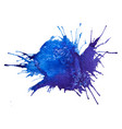 blue watercolor splash stain vector image