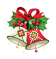 christmas bells with other decorative elements vector image vector image