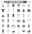 clothes black icon set Dark grey classic vector image