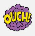 Comic text sound effect speech bubble