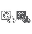 condom line and glyph icon latex and sex vector image vector image