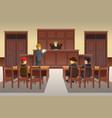 court scene vector image vector image
