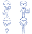 Cute and funny cartoon businessmen vector image